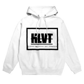 HLVT white フーディ