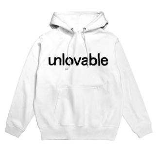 unlovable black フーディ
