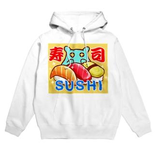 【水星人のスイスイちゃん 日本で遊ぶ!】「寿司(SUSHI)」 フーディ