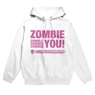 Zombie You! (pink print) フーディ
