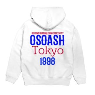 OSOASH東京BICロゴ Hoodies