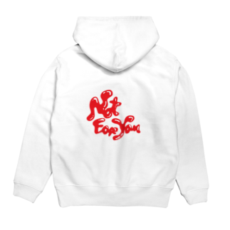 Not for youのメルトダウン Hoodiesの裏面