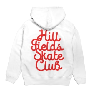 Hill Fields Skate Club_RED Hoodies