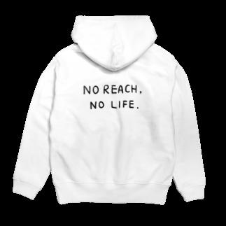 wlmのNo Reach, No Life. - back print - Hoodies