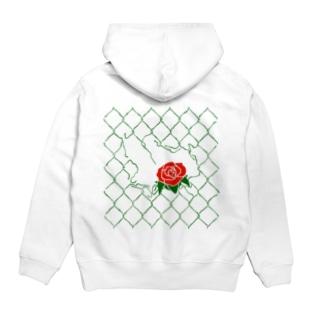 Rose Fence Hoodies