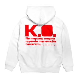 MIRUNAシリーズ「K.O.」 Hoodies