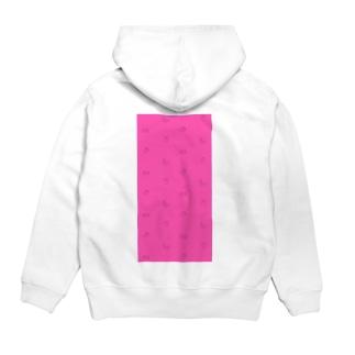 ピンクパターン Hoodies