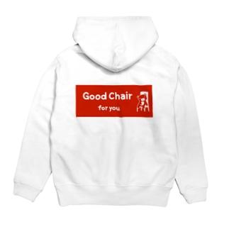 Good Chair for you (赤ラベル) Hoodies
