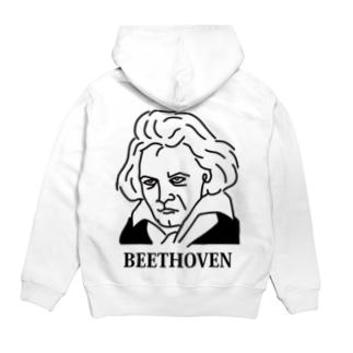 ベートーベン BEETHOVEN イラスト 音楽家 偉人アート ストリートファッション Hoodies