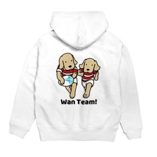 ラグビー Wan Team(背面) Hoodies