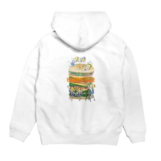 hamburger(オレンジ文字) Hoodies