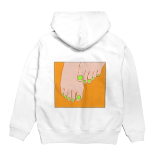 TUMASAKI オレンジ×ライム Hoodies