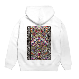 Facing eyes 'color' Hoodies