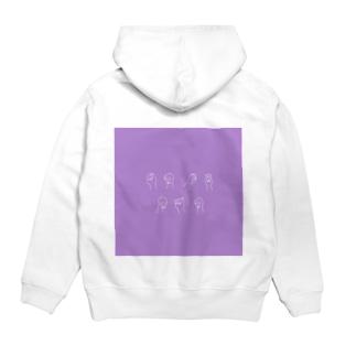 PPP_purple Hoodies