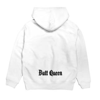 Butt Queenブラックロゴ Hoodie