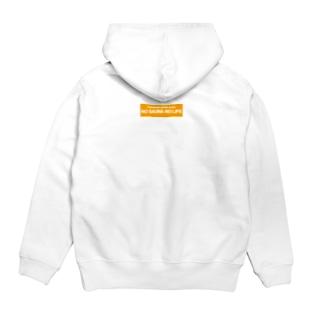 NOSAUNANOLIFEオレンジ Hoodie