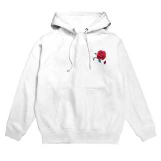 Red rose. Hoodies