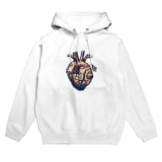 my little chicken heart Hoodies