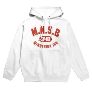 M.N.S.B(レッド) Hoodies