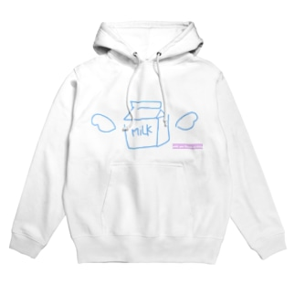 【until you finish drinking】牛乳 Hoodies