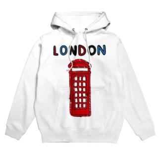 ロンドン電話ボックス Hoodies