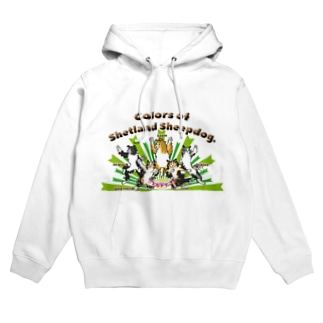 Colors of Shetland sheepdog 日本語ロゴVer. Hoodies