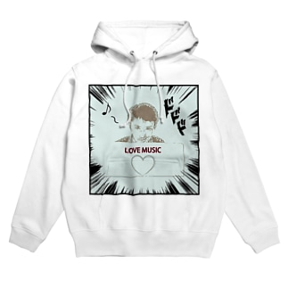 ダーク良太(LOVE MUSIC) Hoodies