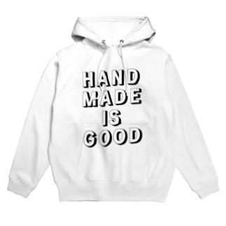 HANDMADE IS GOOD Hoodies