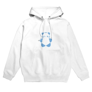 SIROPANDAワンポイント(大)(Blue) Hoodies