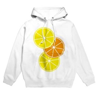 レモンとオレンジ Hoodies