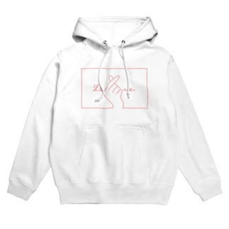指ハート(Red) Hoodies