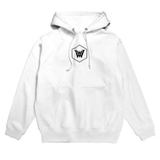 WHITE MAX ロゴ(黒)パーカー Hoodies