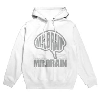 MR,BRAINロゴ:GRAY Hoodies