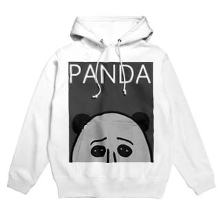 PANDA(グレイ) Hoodies
