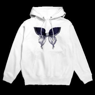 花葬デバイスのセーラー服は永遠 - 青×白 Hoodies