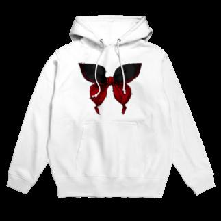 花葬デバイスのセーラー服は永遠 - 黒×赤 Hoodies