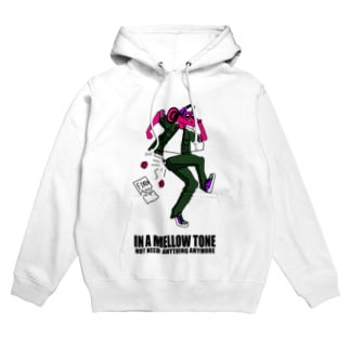 IN A MELLOW TONE -red- Hoodies