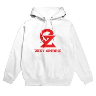 Zest Gaming パーカー ホワイト フーディ