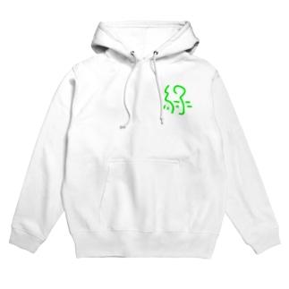 緑ロゴ Hoodies