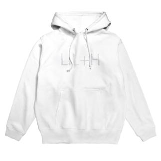 [LIL+H] ロゴ (white) Hoodies