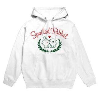 Spoiled Rabbit - Cheek kess / あまえんぼうさちゃん - ほっぺキッス Hoodies