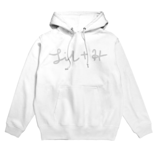 [LIL+H] 手書きロゴパーカー Hoodies