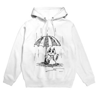 傘下の三毛猫 Hoodies