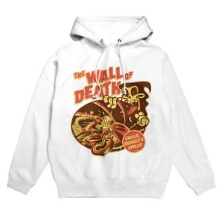 the Wall of Death : Brown / Orange  Hoodies