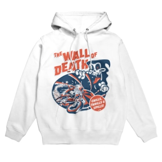 the Wall of Death : Navy / Red Hoodies
