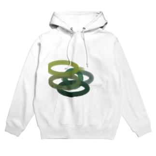 円の縁 緑バージョン Hoodies