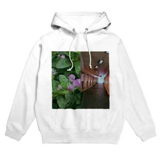 ハンブンコ「花×光」 Hoodies