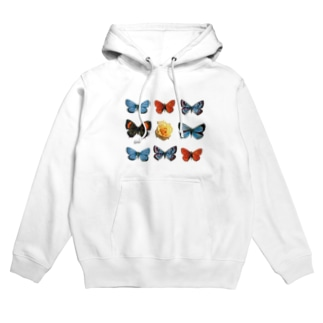 Rose in Butterflies Hoodies