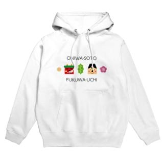 ONIWA-SOTO FUKUWA-UCHI(ホワイト) Hoodies