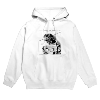T.I.E WHITE Hoodies